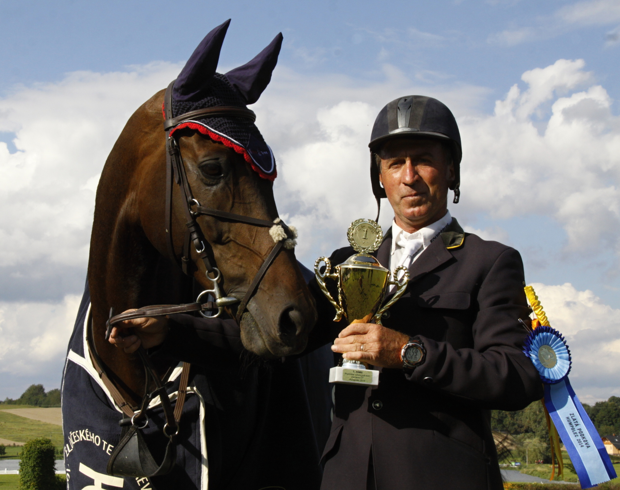 Dnes už dvojnásobný vítěz Zlaté podkovy, Mistr ČR ve všestrannosti a Zlatý kůň ZP Diráno 1 (Lubomír Vrtek, JK při SOUz Horní Heřmanice)